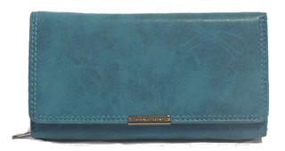Dámská kožená peněženka JENNIFER JONES - Modrá 11024