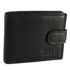 Pánská Kožená Peněženka Černá C-304-L-BL