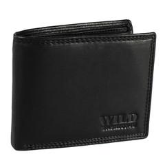 Pánská Kožená Peněženka Černá C-5700-Z-BL