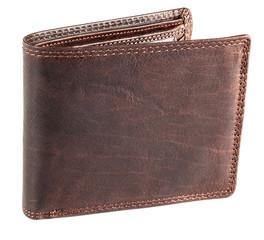 Pánská hnědá kožená peněženka EuroFashion4u 333-D.BRN
