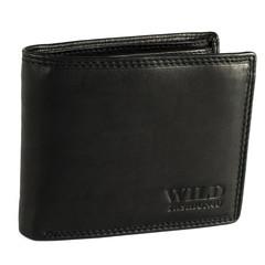 Pánská Kožená Peněženka Černá C-305-Z-BL