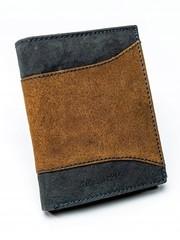 Pánská černá kožená peněženka ALWAYS WILD N4-SAF BROWN/BLACK