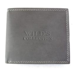 Pánská Kožená Peněženka Šedá Wild