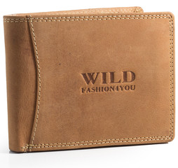 Pánská Kožená Peněženka WILD FASHION4YOU WF5600-NAT