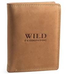 WILD FASHION4U pánská kožená peněženka WF306-NAT