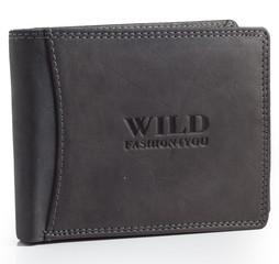 WILD FASHION4U pánská kožená peněženka WF5600-BL
