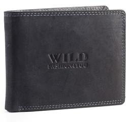 WILD FASHION4U pánská kožená peněženka WF305-BL