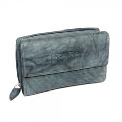 Dámská kožená peněženka Money Maker 12136B ŠEDÁ-ZELENÁ