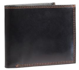 Pánská luxusní kožená pěněženka Ricardo Ramos černá lesklá KVT-304 RFID